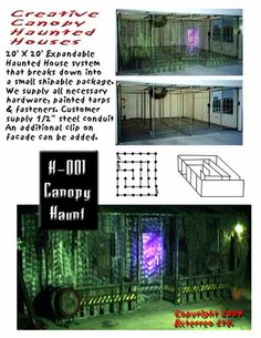 Canopy style haunted house