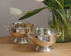 Cassandra's Kitchen - HOTEL Footed Silver Bowl With Handles.