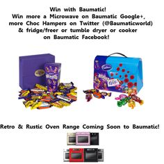Win a Cadbury's Heroes Hamper or a Cadbury's Briefcase full of Choc! Competition Name: Piranha Pinterest Hamper!To win, Re-pin any Baumatic Pin and tell us that you have done so by emailing competition@baumatic.co.uk. Please tell all your friends about the Comp!The winner will be emailed by the end of next week! Rustic Ovens, Make And Sell, How To Make, Egg Hunt, Perfect Party, Sell On Etsy, Hamper, Giveaways, Book Covers