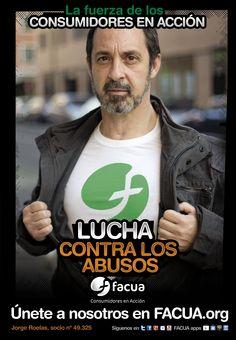 Jorge Roelas, socio de FACUA nº 49.325, llama a los consumidores a la lucha contra los abusos