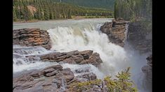 Athabasca Falls is located in Jasper National Park in Alberta, Canada, not far south of the Jasper town site. The waterfall is located along the Athabasca Ri. Jasper National Park, National Parks, Virtual Travel, Good Ole, Niagara Falls, Canada, Waterfalls, River