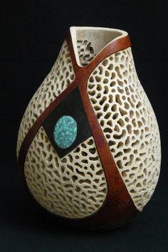"*Gourd Art - ""Lace"" by Kathe Stark"