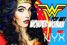 NYX Face Awards Round 2! 1970's Pop Art WONDER WOMAN!!!