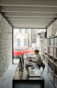 Office styling on pinterest open plan offices and for Long narrow office layout