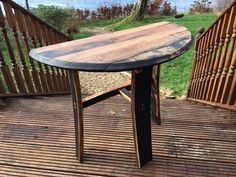 Hand made using recycled oak whisky barrel staves and lids in our workshop in Argyll. Every item is unique so will vary in size and colour. Small side table perfect as a hall table or for the end of you sofa. Handcrafted to order