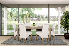 Lakeside Mall, Table Measurements, Soft Chair, 7 Piece Dining Set, Chair Fabric, Wood Veneer, Dining Table, Modern, Furniture