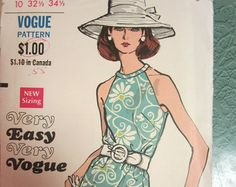 Vintage Vogue pattern 60s Shift Dress