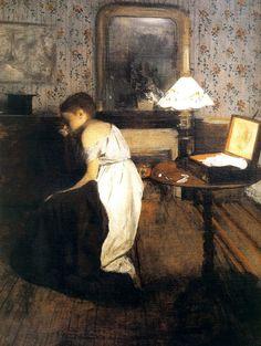 Edgar Degas, Le viol (detail: la domestique), 1869