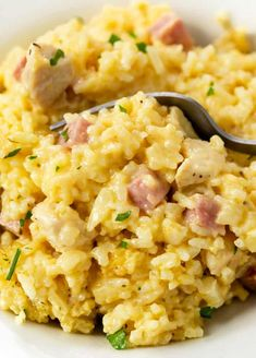 This Chicken Cordon Bleu Casserole is an easy recipe with rice that you can make ahead of time! It makes a great freezer meal idea and is a perfect way to use up leftover chicken or ham! #budgetmealplanning #makeaheadmeals #easydinner #freezerfriendlymeals Chicken Ham, Cooked Chicken Recipes, Cream Of Chicken Soup, How To Cook Chicken, Cooking Recipes, Shredded Chicken, Freezer Friendly Meals, Freezer Meals, Casserole Dishes