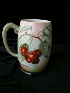 Signed RIPE,RICH CHERRIES Dragon Handled Tankard
