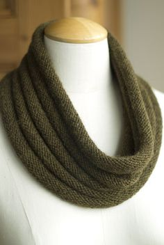Welted Alpaca Cowl or Infinity Loop by Churchmouse Yarns & Teas