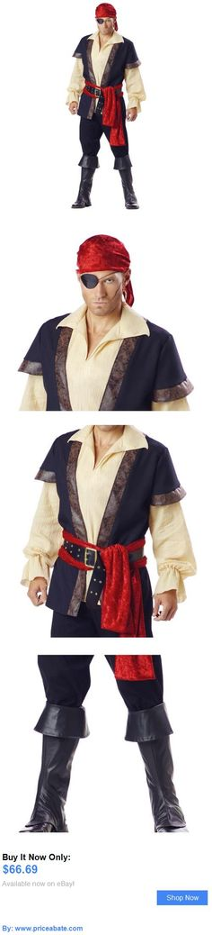 Men Costumes: Pirate Costume Adult Halloween Fancy Dress BUY IT NOW ONLY: $66.69 #priceabateMenCostumes OR #priceabate