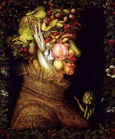 Giuseppe Arcimboldo - L'Ete (Summer), 1573 Olha o que a pessoa estava pensando em 1573!
