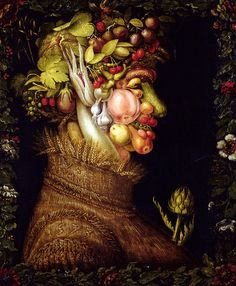 Saw this as a child and it really caught my attention....Giuseppe Arcimboldo - L'Ete (Summer), 1573