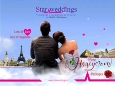 If you are planning your first romantic vacation, then we, ‪#‎StarWeddings‬ have loads of honeymoon packages on offer. None gives you options of more places and ways to spend your first few days together, than #StarWeddings. We offer you ‪#‎Best_packages‬ in ‪#‎Best_price‬ . #StarWeddings We are the ‪#‎Superstar‬ in ‪#‎Weddings‬ call us at +919600006335 to hire us / visit www.starweddings.in