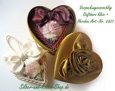 Luxus Duft Herz mit Rose weinrot XL zum Bestellen
