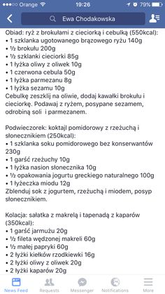 Polish Recipes, Food And Drink, Healthy Eating, Menu, Cooking, Eating Healthy, Menu Board Design, Kitchen, Healthy Nutrition