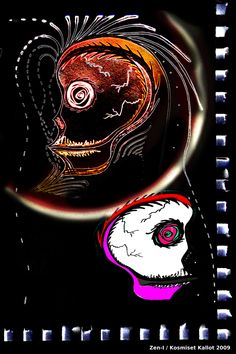 Skulls are photoshopped from one of my drawings