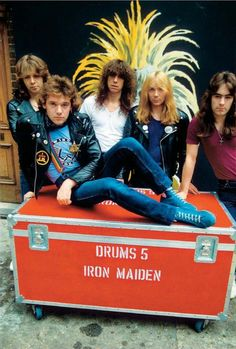 Iron Maiden And The New Wave Of British Heavy Metal (Part 1 of Heavy Rock, Heavy Metal, Albums Iron Maiden, Great Bands, Cool Bands, Clive Burr, Rock And Roll, Iron Maiden Posters, Hair Metal Bands
