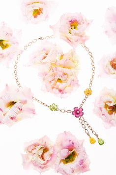 Flowers Bouquet Necklace. celebrates Ferragamo Flowers fine jewels. Discover more at Ferragamo.com