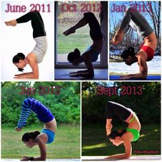 Scorpion Pose · Vrschikasana #yogaprogress Yogini Laura Sykora (Kasperzak) More