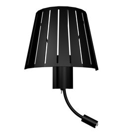 Aplique pared con LED negro laminada #iluminacion #decoracion #lamparas #diseño #arquitectura #apliquespared #lamparasparacasa