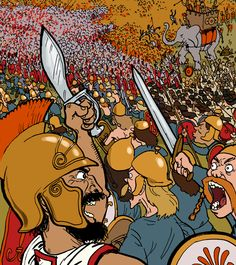 Grave Matters: Hannibal and The Battle of Cannae. In the Phoenix Issue Adam Murphy - Comics Punic Wars, Carthage, Book Tv, Ancient History, Warfare, Phoenix, Rome, Battle, Animation