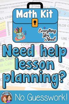 Math Lesson Plans, Math Lessons, Math Worksheets, Math Activities, Teacher Helper, Teacher Binder, Math Classroom, Classroom Libraries, Teachers Toolbox