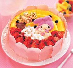 My Melody fruit cake