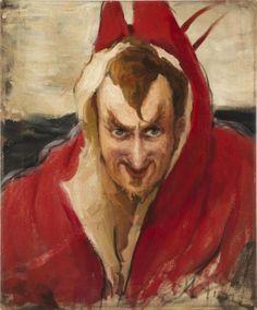 """Mephistopheles""  by  Ilya Efimovich Repin"