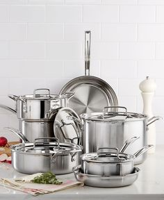 Cuisinart Multiclad Pro Tri-Ply Stainless Steel 12 Piece Cookware Set~~ my new cookware ordered for my new induction stovetop!!!!!!
