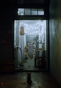 Someone is currently developing a video game where you are a cat exploring a dystopian version of Kowloon Walled City in Hong Kong Cyberpunk City, Arte Cyberpunk, Futuristic City, Kowloon Walled City, Unreal Engine, Environment Concept Art, Shadowrun, Game Art, Hong Kong