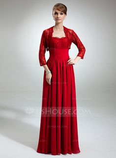 Mother of the Bride Dresses - $142.99 - A-Line/Princess Sweetheart Floor-Length Chiffon Mother of the Bride Dress With Lace Beading (008006491) http://jjshouse.com/A-Line-Princess-Sweetheart-Floor-Length-Chiffon-Mother-Of-The-Bride-Dress-With-Lace-Beading-008006491-g6491