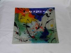Glass Fusion Ideas, Square Plates, Glass Dishes, Fused Glass, Dinnerware, Glass Art, Projects To Try, Tableware, Diy