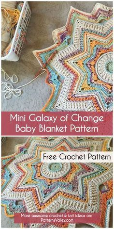Crochet Afghans Patterns Mini Galaxy of Change Baby Blanket Pattern ~ Crochet Afghans, Crochet Baby Blanket Beginner, Free Baby Blanket Patterns, Crochet Blanket Patterns, Crochet Granny, Crochet Blankets, Baby Patterns, Diy Baby Blankets, Knitting Baby Blankets