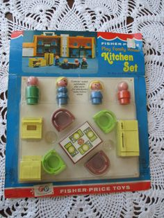 Vintage Fisher Price Play Family House Kitchen