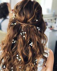 32 Beautiful Wedding Hairstyles - The Glossychic Engagement Hairstyles, Rustic Wedding Hairstyles, Wedding Hairstyles For Long Hair, Bride Hairstyles, Hairstyles Haircuts, Down Hairstyles, Straight Hairstyles, Scarf Hairstyles, Wedding Hair Down