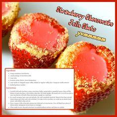 Strawberry cheesecake jello shots