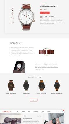Stylovky on Behance Site Web Design, Web Design Jobs, Ecommerce Website Design, Homepage Design, Web Layout, Shop Layout, Ux Design Principles, Minimal Website Design, Marketing Website