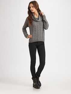Love this gray sweater.