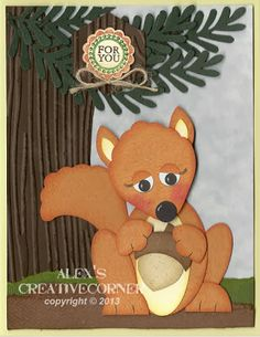 Alex's Creative Corner: Squirrel Punch Art Card
