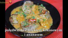Jak zrobić Polędwiczki z Mlekiem Kokosowym i Ananasem - Przepis Video - Mleko kokosowe to doskonały składnik sosów w daniach mięsnych. Doskonałym dodatkiem jest również ananas, który uczyni tą potrawę wyjątkową. Smakowało? Zostaw nam Swój komentarz :)
