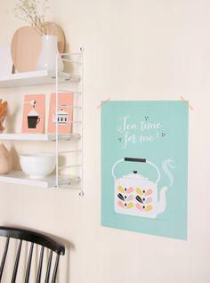 "Affiche ""Tea time for me"" - Zü"
