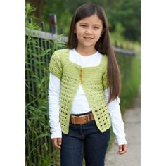 Girl's Playground Cardigan - free crochet pattern at www.yarnspirations.com