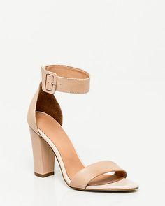 Sandale+à+bride+de+cheville+en+cuir