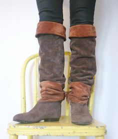 Extra tall slouch boots ...<3! *Id love these if they were a solid color... :P oh well