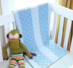 Tunisian Basketweave Crochet Blanket for Babies!