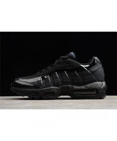 Nike Air Max 95 Black Black Black Men'S Running Shoes Nike Max, Air Max 95, Red Shoes, Running Shoes For Men, Shoe Sale, Shoes Online, Black Men, All Black Sneakers, Red Dress Shoes