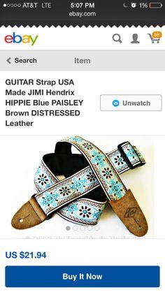 Hendrix Woodstock style guitar strap