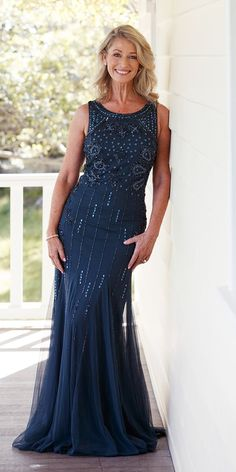 27 Stylish Mother Of The Bride Dresses ❤ mother of the bride dresses navy jeweled sheath oleg cassini #weddingforward #wedding #bride Mother Of The Bride, Make Me Smile, Formal Dresses, Stylish, Wedding, Fashion, Formal Gowns, Valentines Day Weddings, Moda